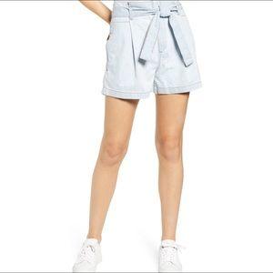 DL1961 Camille Paper Bag Waist Denim Shorts 30